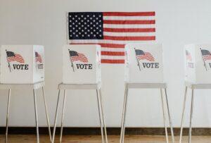 Voting booths in Wichita, Kansas
